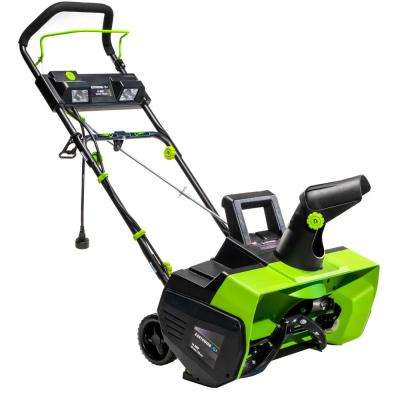 22 in. 14 Amp Corded Electric Snow Thrower with LED Lights