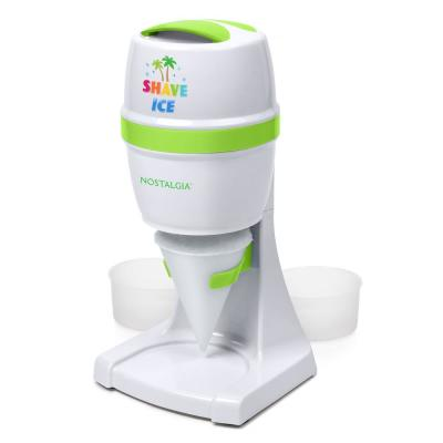 50 W  8 oz. White Snow Cone Maker with Stainless Steel Blades