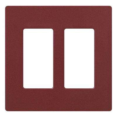 Claro 2 Gang Decorator Wallplate, Merlot