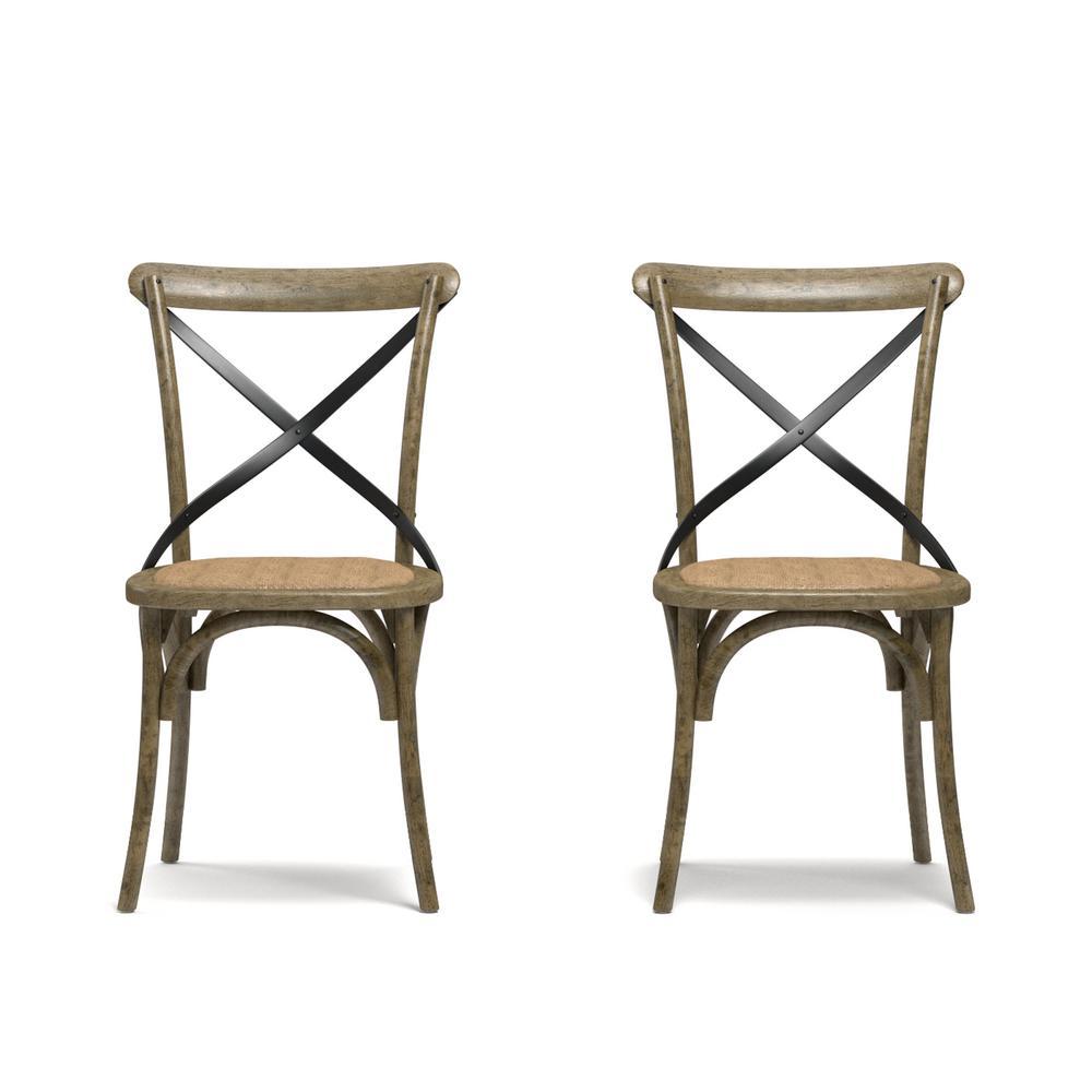 Fairbanks Medium Oak Dining Chairs (Set of 2)
