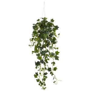 Nearly Natural English Ivy Hanging Basket Artificial Plant by Nearly Natural