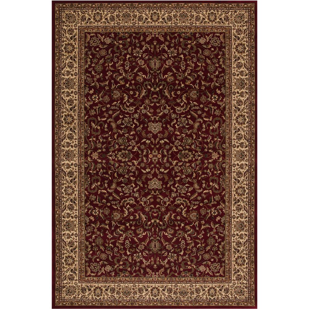 Concord Global Trading Persian Classics Kashan Red 5 Ft 3