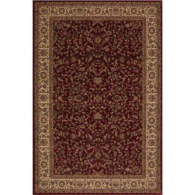 Persian Classic Kashan Red Rectangle Indoor 9 ft. 3 in. x 12 ft. 10 in. Area Rug