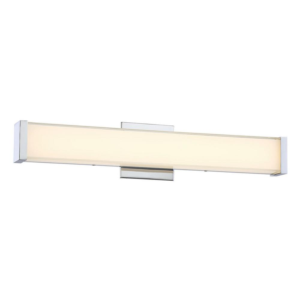 Minka Lavery 200-Watt Equivalence Chrome Integrated LED Bath Light