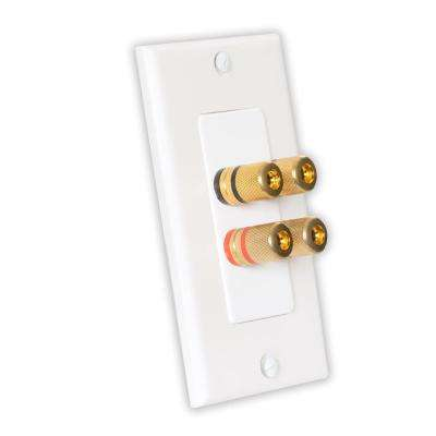 Home Theater Speaker Wire Wall Plate 2 Speaker 4 Posts