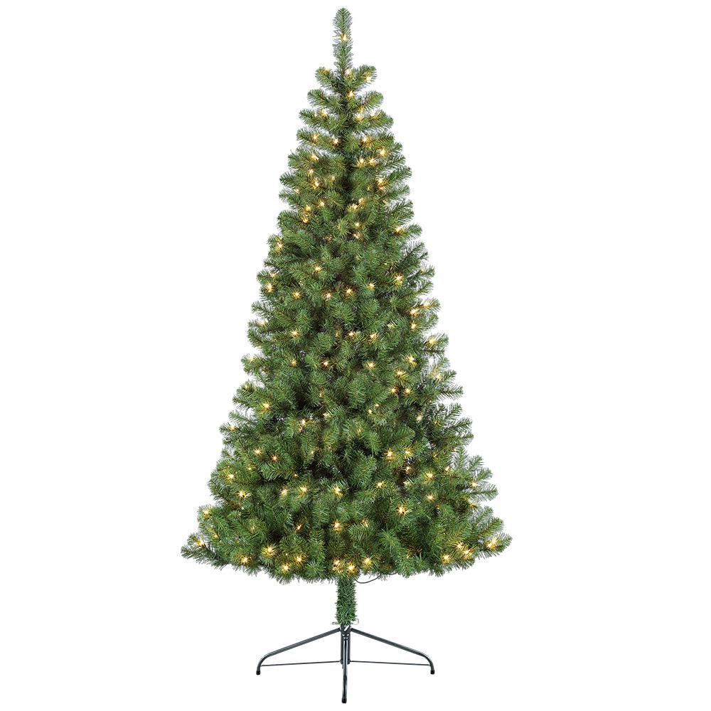 Half Christmas.Puleo International 6 5 Ft Pre Lit Incandescent Half Evergreen Artificial Christmas Tree With 200 Ul Listed Clear Lights