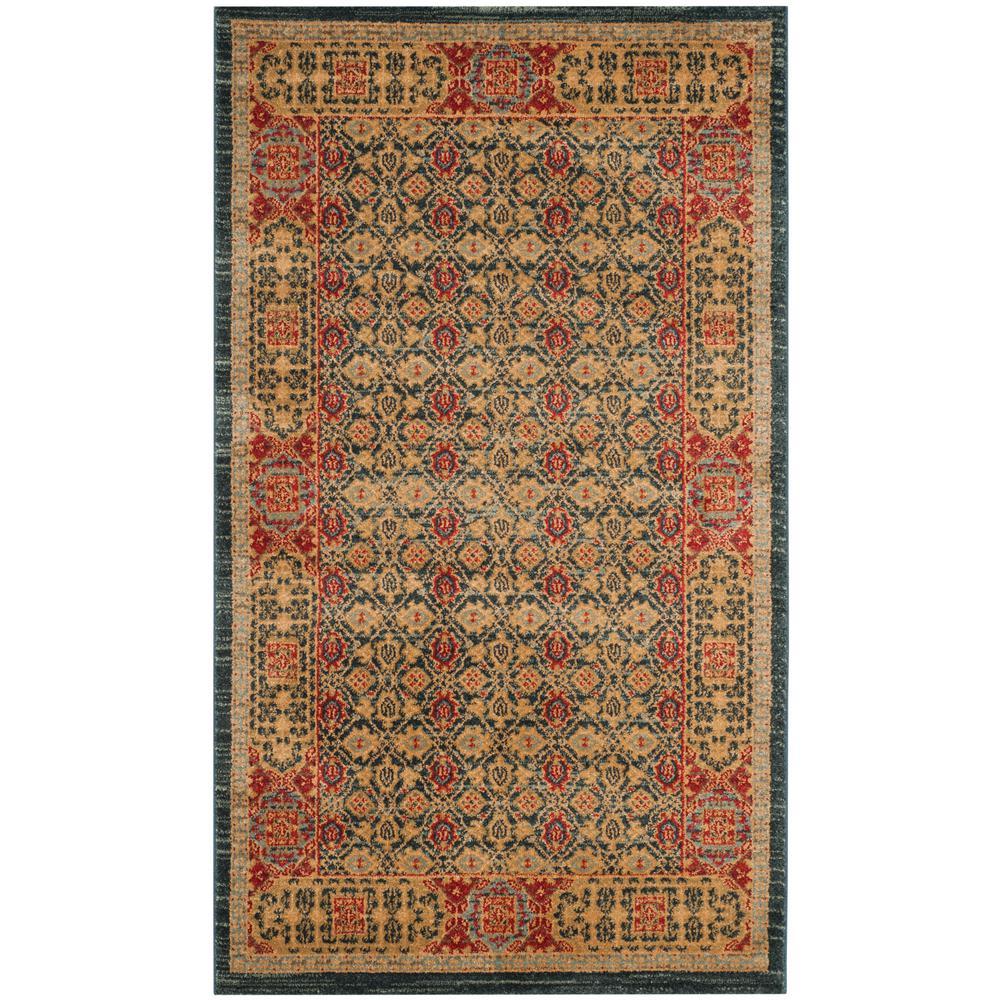 safavieh mahal light blue red 3 ft x 5 ft area rug mah623k 3 the home depot. Black Bedroom Furniture Sets. Home Design Ideas