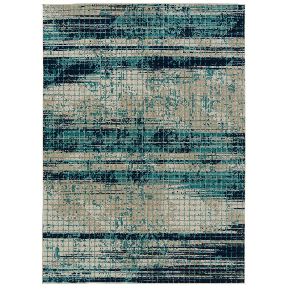 Kaleen Zuma Beach Collection Blue 3 Ft 11 In X 5 Ft 3 In Rectangle Indoor Outdoor Area Rug Zum11 17 31153 The Home Depot