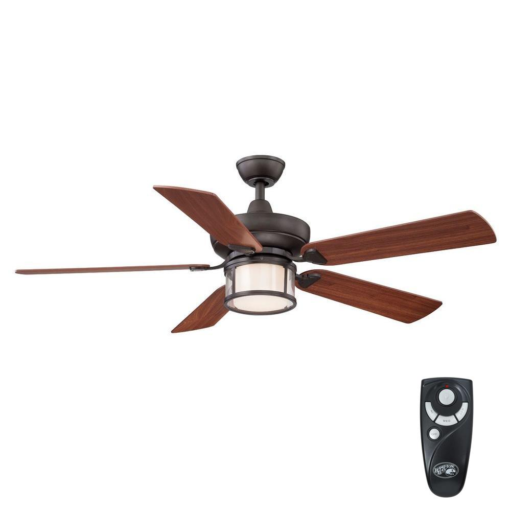 Fan With Light And Remote Part - 42: Indoor Oil-Rubbed Bronze Ceiling Fan With Light