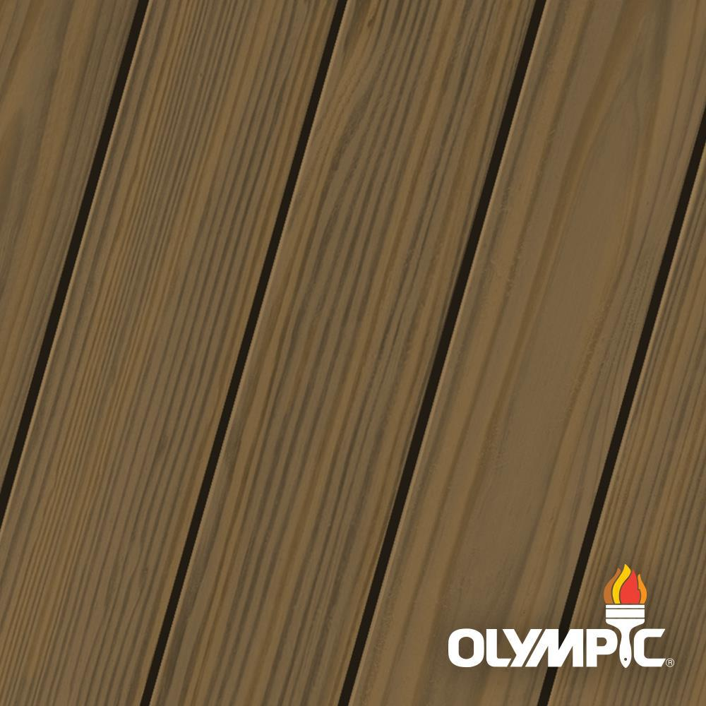 Olympic Maximum 1 gal. Dark Oak Semi-Transparent Exterior Stain and Sealant in One