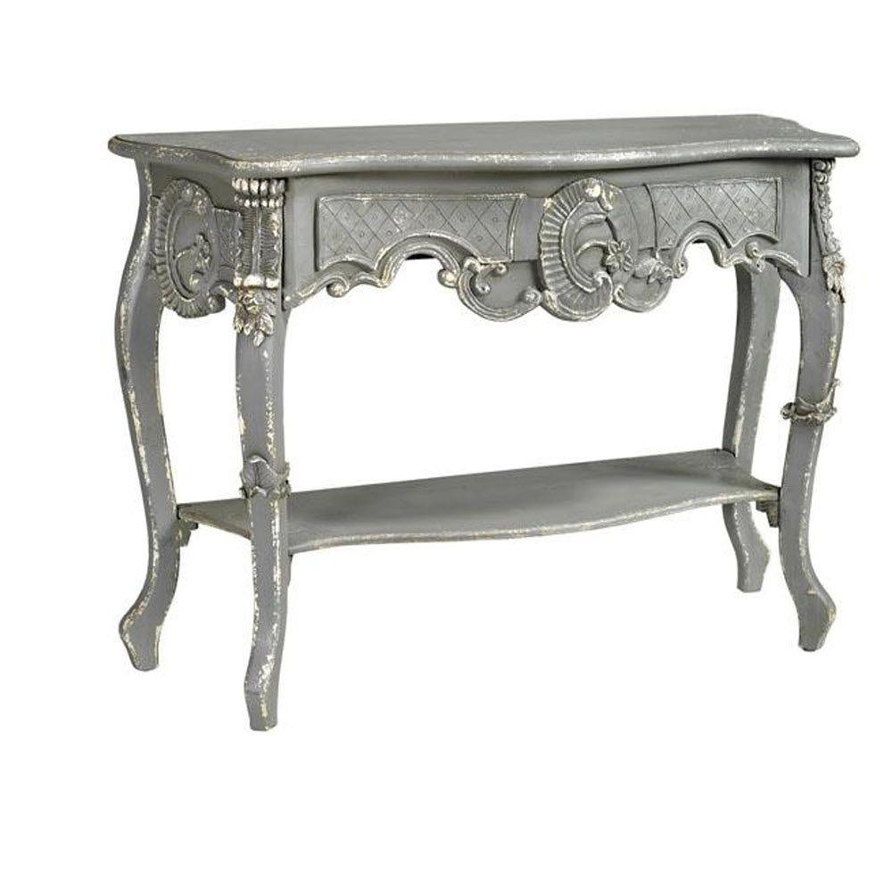 Home Decorators Collection Boudreaux Wood Console Table in Grey/Distressed Paint