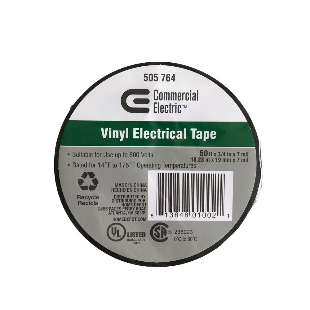 Commercial Electric 3/4 in. x 60 ft. Columbia Vinyl Electric Tape
