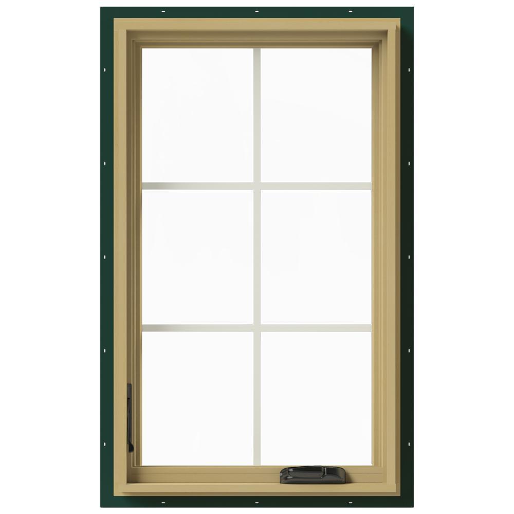 Jeld wen 24 in x 40 in w 2500 left hand casement for Casement window reviews