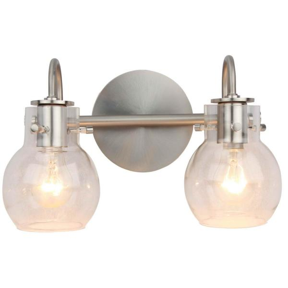 2-Light Brushed Nickel Vanity Lighting