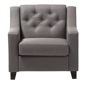 Baxton Studio Arcadia Contemporary Gray Fabric Upholstered Accent Chair by Baxton Studio