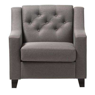 baxton studio gray chairs living room furniture the home depot