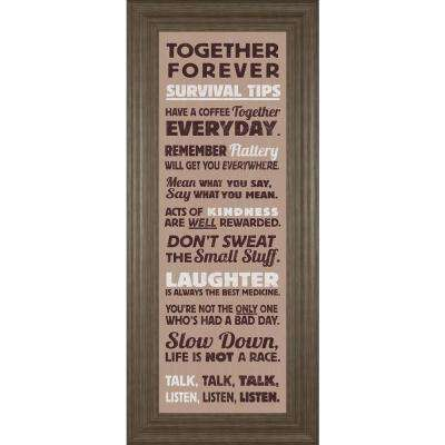 """18 in. x 42 in. """"Survival Tips I"""" by The Vintage Collection Framed Printed Wall Art"""