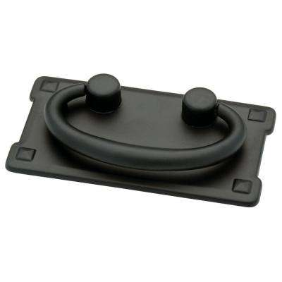 Mission 3 in. (76mm) Flat Black Bail Drawer Pull