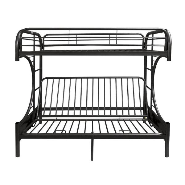 Eclipse Twin Over Black Full Metal Kids Bunk Bed