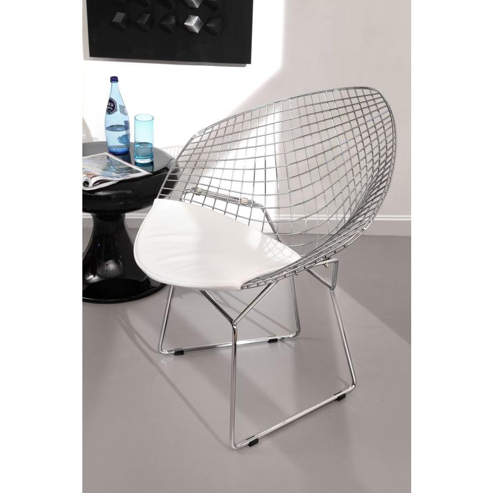 ZUO Chrome Metal Net Chair (Set of 2)-188020 - The Home Depot