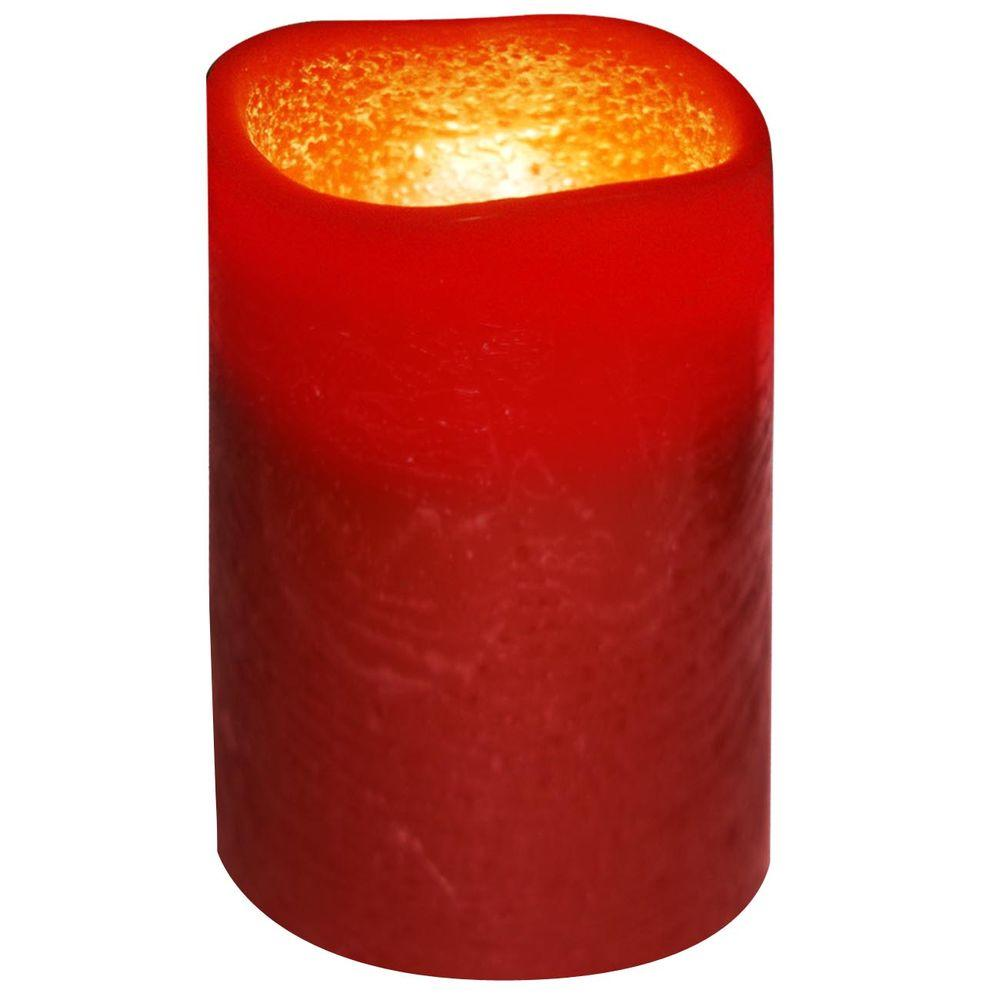 null 3 in. x 4 in. Flameless Lattice Brown Copper Candle
