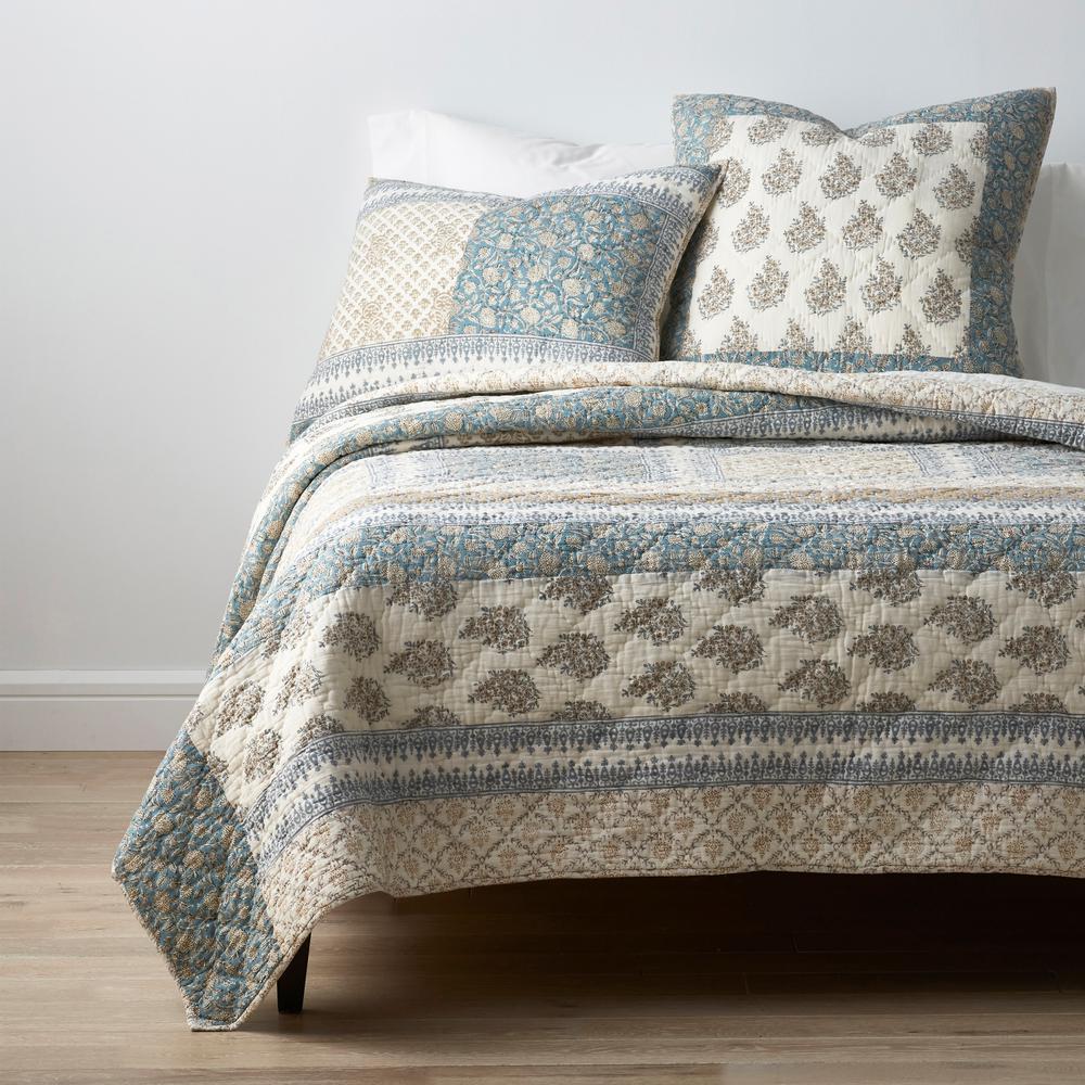 Caulfield Floral Cotton Patchwork Quilt