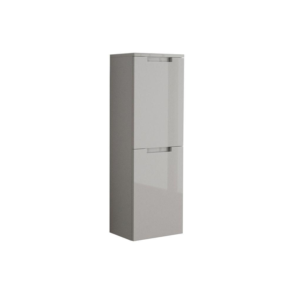 Oasi 14-9/50 in. W Wall Mounted Linen Cabinet in Glossy Grey