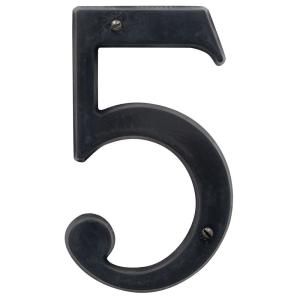 Baldwin 5 inch Oil-Rubbed Bronze House Number 5 by