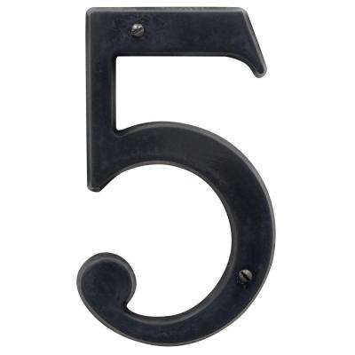 5 in. Oil-Rubbed Bronze House Number 5