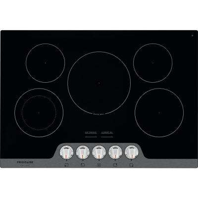 30 in. Radiant Electric Cooktop in Stainless Steel with 5 Elements