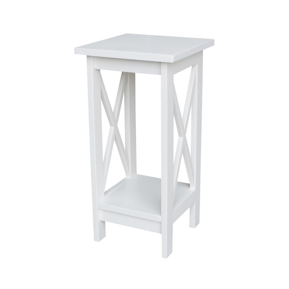 Solid Wood 24 in. H White Plant Stand