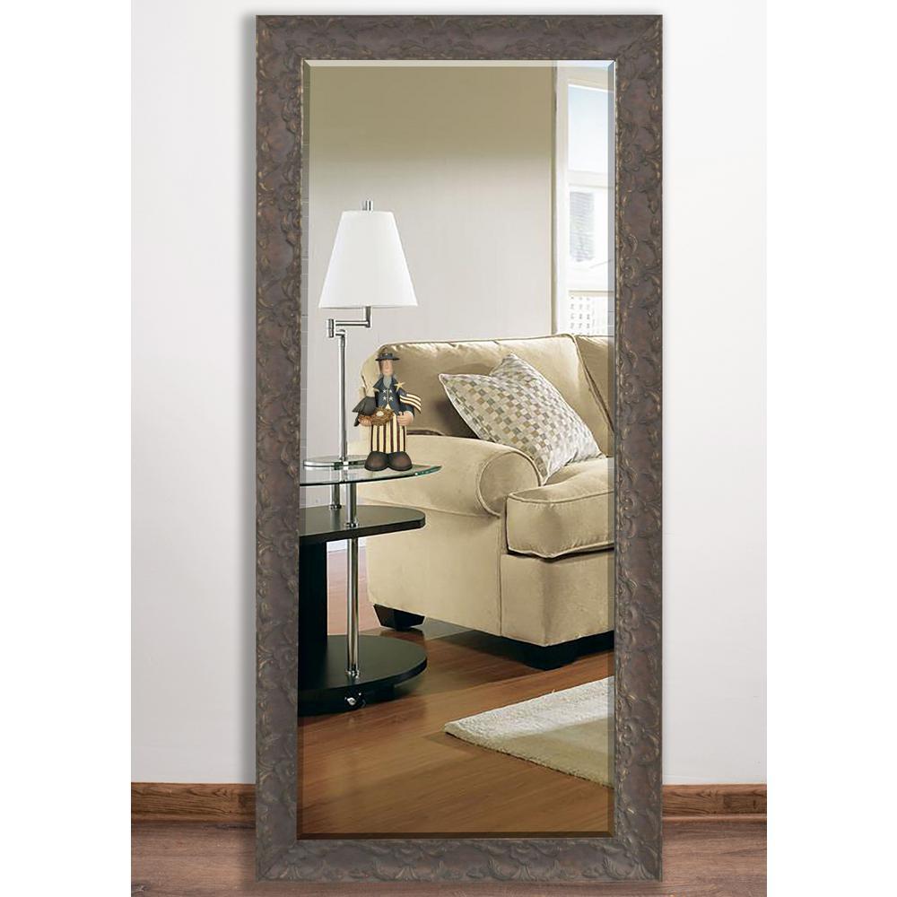 Maclaren brown beveled full body mirror