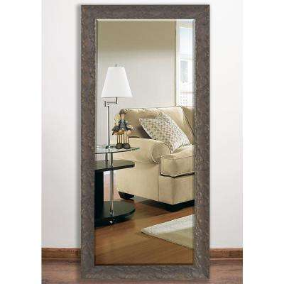 32.5 in. x 66 in. Maclaren Brown Beveled Full Body Mirror