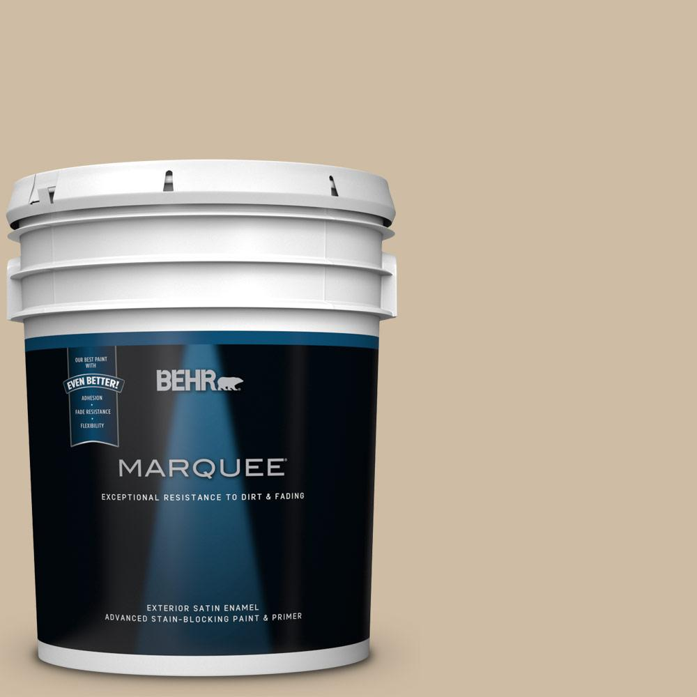 BEHR MARQUEE 5-gal. #PWL-83 Distant Tan Satin Enamel Exterior Paint