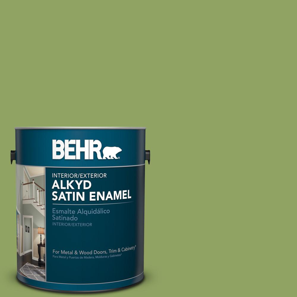 1 gal. #PPU10-4 New Bamboo Satin Enamel Alkyd Interior/Exterior Paint
