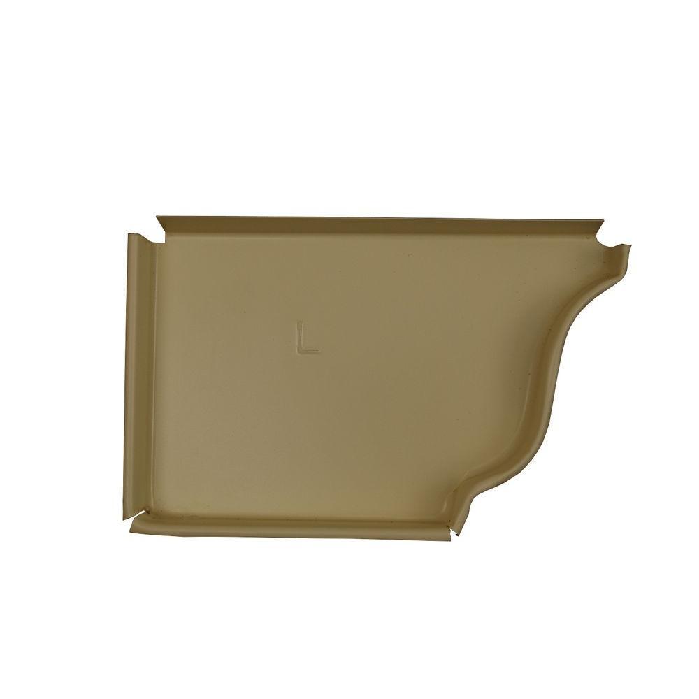 Amerimax Home Products 6 in. Heritage Cream Aluminum Left End Cap