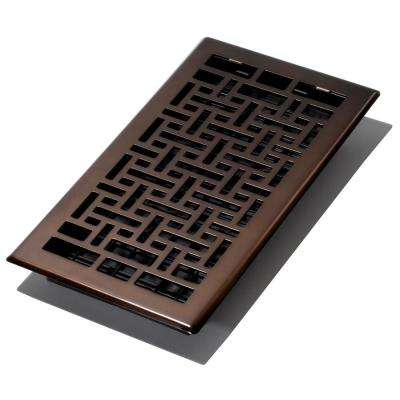 6 in. x 12 in. Oriental Bronze Floor Register