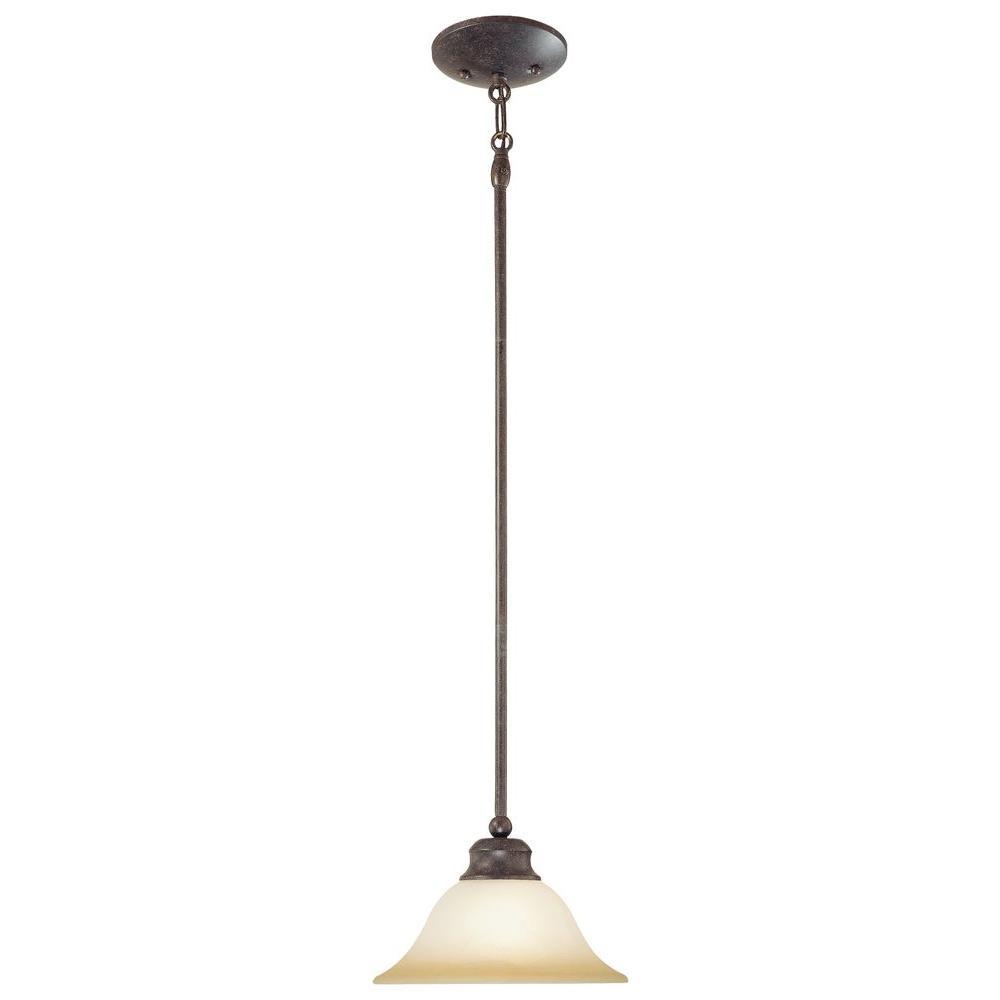 Thomas Lighting 1-Light Sable Bronze Hanging Pendant