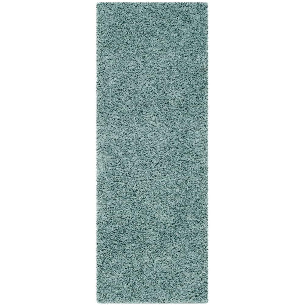 Athens Shag Seafoam 2 ft. 3 in. x 8 ft. Runner
