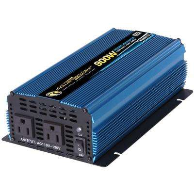 12 Volt DC to AC 900-Watt Power Inverter
