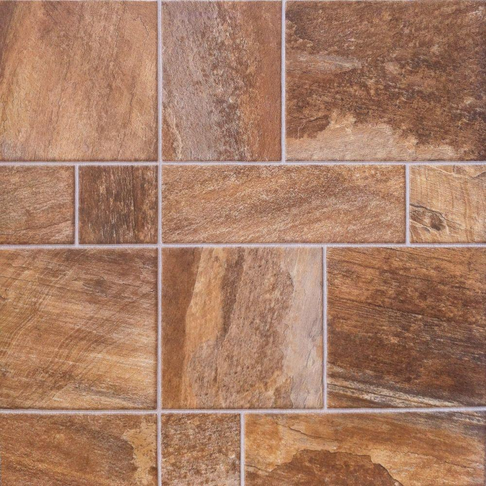 Innovations Amber Random Slate 8 mm Thick x 15-1/2 in. Wide x 46-1/2 in. Length Click Lock Laminate Flooring (19.98 sq. ft. / case)