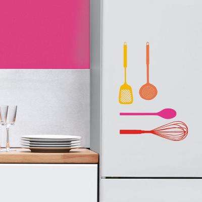 Multi-Color Utensils Home Wall Decal