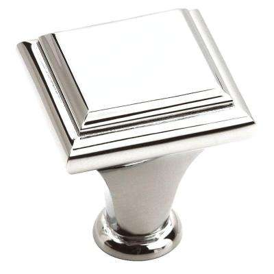 Manor 1 in. Polished Chrome Cabinet Knob