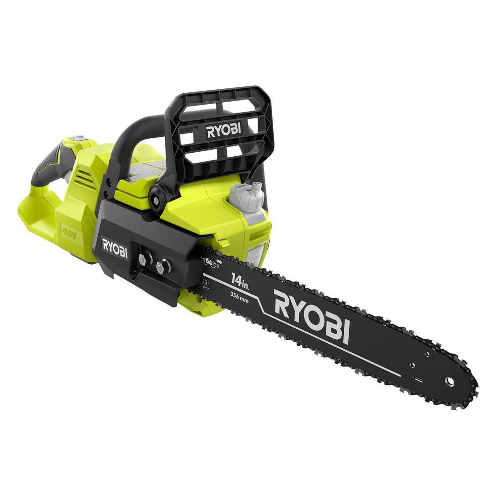 RYOBI 14 in  40-Volt Cordless Battery Brushless Lithium-Ion Chainsaw (Tool  Only)