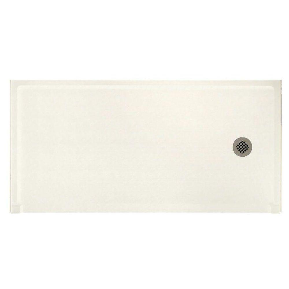 Swanstone Barrier Free 30 in. x 60 in. Single Threshold Shower Floor in Tahiti Ivory-DISCONTINUED