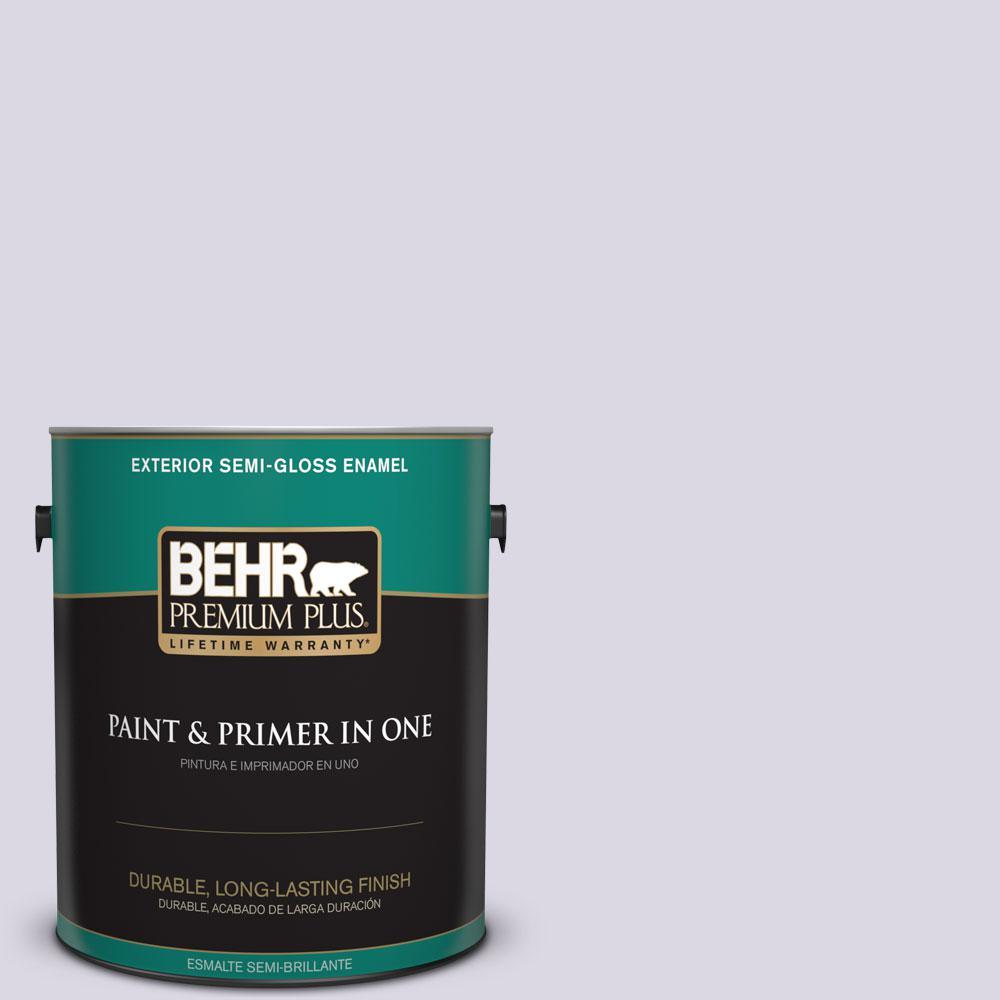 BEHR Premium Plus 1-gal. #S570-1 Misty Lavender Semi-Gloss Enamel Exterior Paint