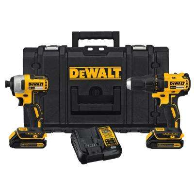 20-Volt MAX Lithium Ion Cordless Combo Kit (2-Tool) with Tough Case