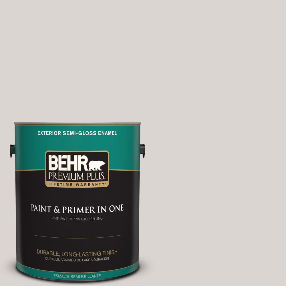 BEHR Premium Plus Home Decorators Collection 1-gal. #hdc-MD-21 Dove Semi-Gloss Enamel Exterior Paint, Beige/Ivory