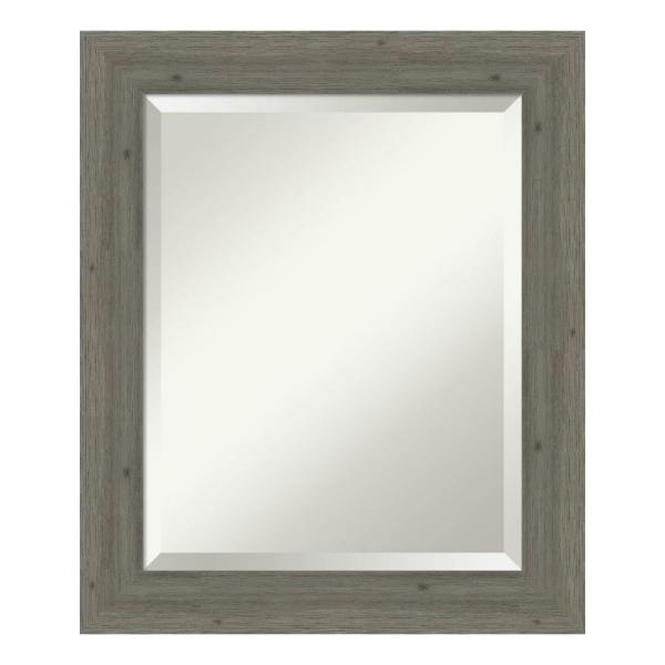 Amanti Art Fencepost Narrow Grey Bathroom Vanity Mirror DSW4094370