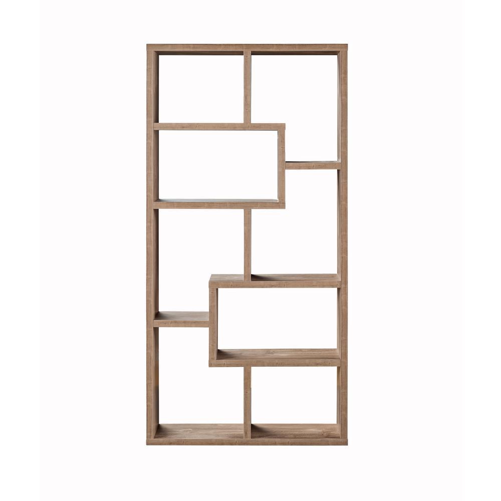 Kimya Hazelnut 8 Shelf Bookcase